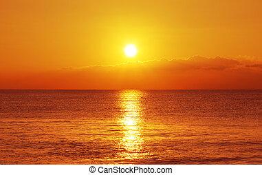 日没, そして, 海洋