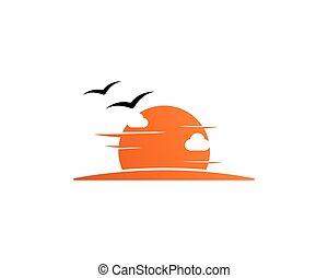 日没, ロゴ, テンプレート