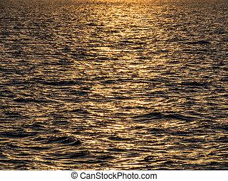 日没, 上に, a, 湖