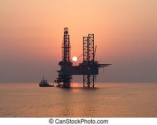 日没, 中に, ペルシャ湾