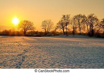 日没, 冬
