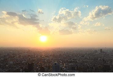 日没, 東京