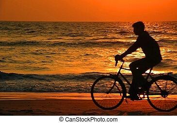 日没 浜, サイクリング