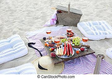 日没 浜, スタイル, ピクニック, boho