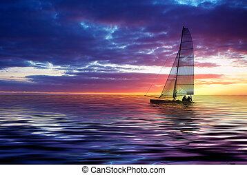 日没, 航海