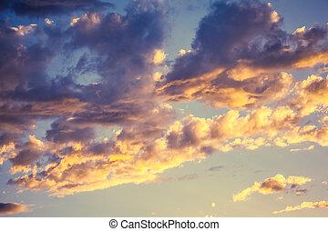 日没, 雲