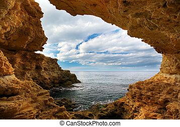 日落, 洞穴