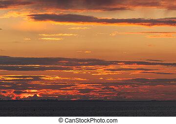 日落, 红