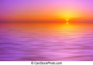 日落, 背景