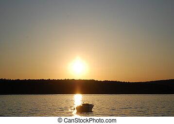 日落, 船