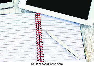 日記, ペン, タブレットの pc