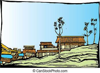 日語, 村莊