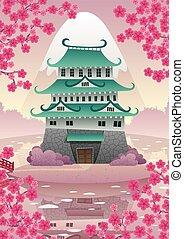 日语, 城堡