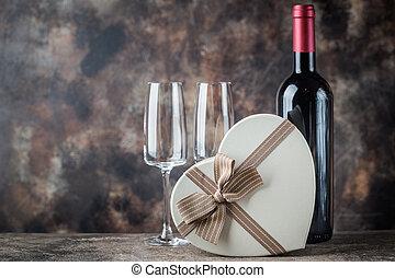 日, カード, バレンタイン, 挨拶