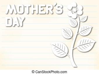 日, カード, 母