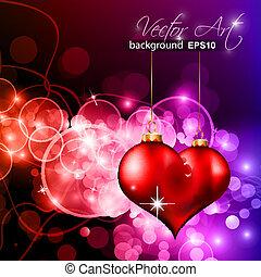 日, フライヤ, 背景, カラフルである, バレンタイン