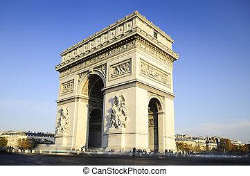 日, フランス, time., アーチ, paric, triumph.