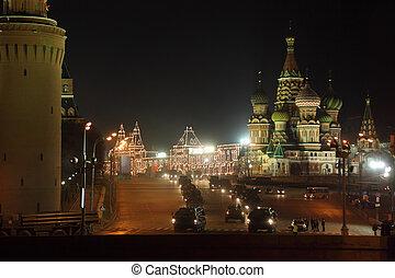 日, モスクワ, square., russia., ハードウェア, パレード, 26, -, モスクワ, 4 月, 26:, 赤, 軍, 2011, リハーサル, 勝利
