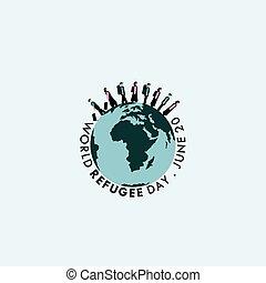 日, 世界, 避難者