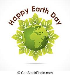 日, 地球, 幸せ, 挨拶, デザイン