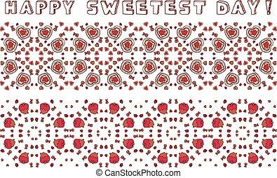 日, 幸せ, seamless, sweetest, ボーダー, セット