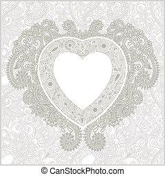 日, 心, カード, valentin
