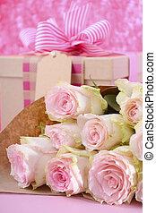 日, 贈り物, flowers., 母