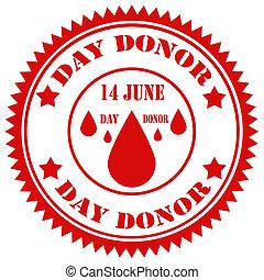 日, donor-stamp