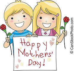 日, mothers'