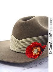 日, slouch, anzac, 帽子, オーストラリア人