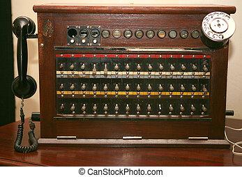 旧式な電話, switchboard.