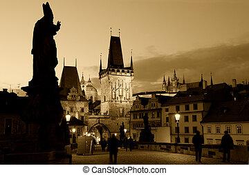 早く, プラハ, 夕方