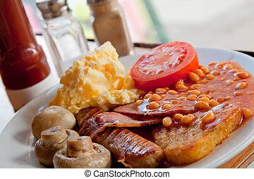 早餐, 充分, 英語