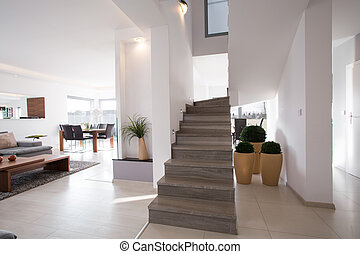 时尚, 现代, 楼梯