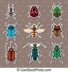 昆虫, ステッカー
