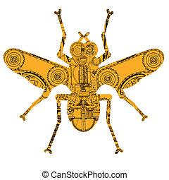 昆虫, 机械