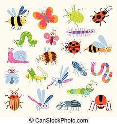 昆虫, 面白い, セット