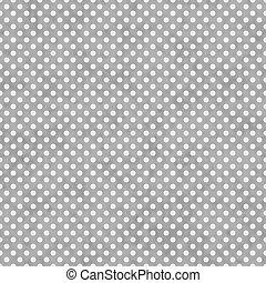 明るいグレー, そして, 白, 小さい, ポルカドット, パターン, 繰り返し, 背景