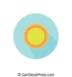 明るい白, sun., 円, 背景
