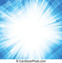 明るい青, 背景