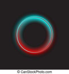 明るい, ネオン, 円