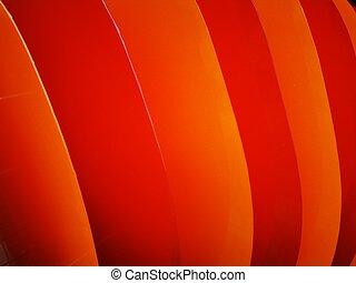 明るい, 写真, orange-, style., 動的, panels., 背景, プラスチック, 3d, パターン, 波状, 赤, effect.