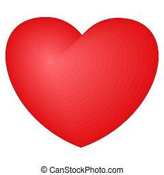 明るい, 愛, シンボル, 優しさ, 赤, heart.