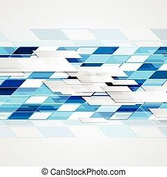 明るい, 抽象的, hi-tech, 背景, 幾何学的