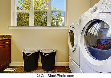 明るい, 洗濯物, 象牙, 部屋