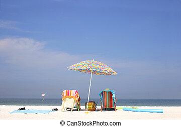 明るい, 浜