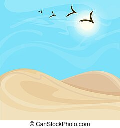 明るい, 風景, 暑い, 背景, 砂漠