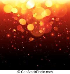 明るい, bokeh, 効果, 火, 抽象的, 背景