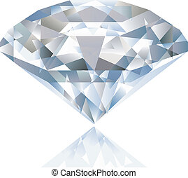 明亮, 矢量, 晴朗, diamond.