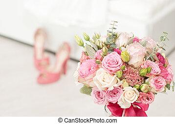 明亮, 花, 豪華, 背景, 婚禮
